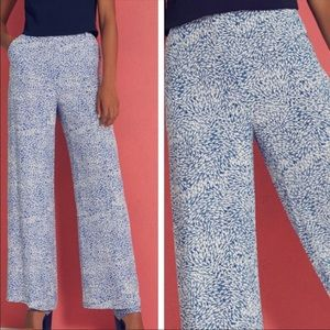 Ted Baker Coley fish wide blue Pants SZ 2